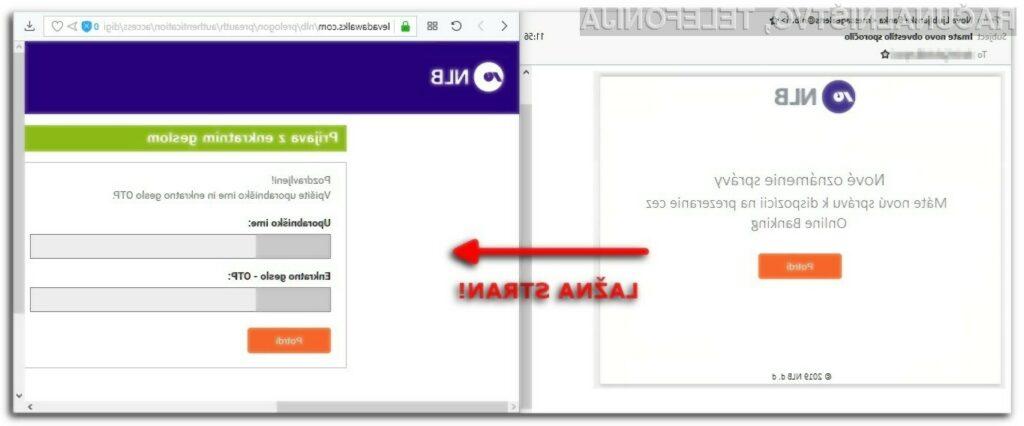 Prevara z lažnimi elektronskimi sporočili banke NLB,