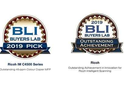 Ricoh Europe s kar dvema priznanjema Buyers Lab Award