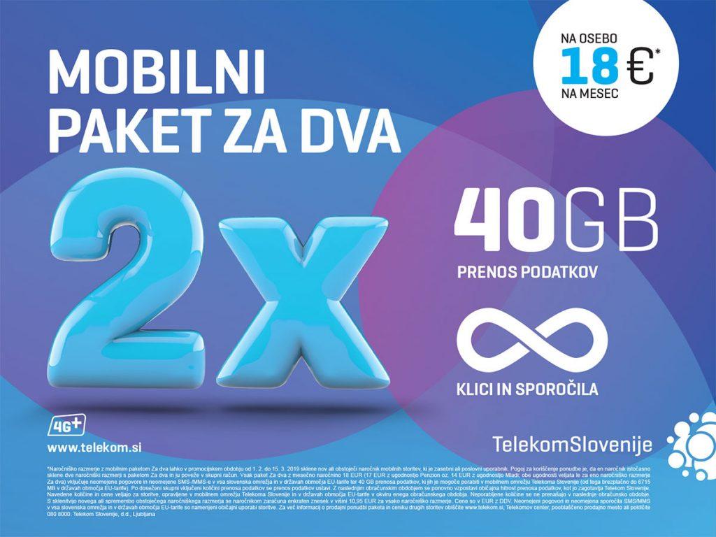 Telekom Slovenije odslej s paketom Za dva omogoča dve naročniški razmerji na enem računu