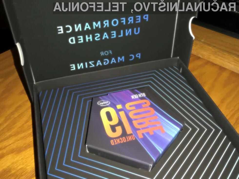 Mobilni procesorji Intel Core i9 bodo zmogljivost prenosnikov nedvomno pognali v nebo.