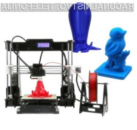 3D tiskalnik Anet A8 DIY i3 z novo funkcijo samodejnega uravnavanja.