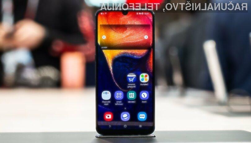 Evropski kupci bodo za novi Samsung Galaxy A50 morali odšteti okoli 349 evrov.