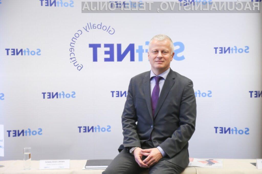 Direktor podjetja Softnet Andrej Boštjančič.