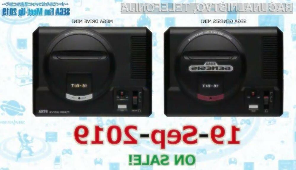 Retro igralni konzoli Genesis Mini in Mega Drive Mini.