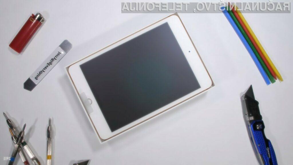 Z novim tabličnim računalnikom iPad mini 5 bomo morali biti pri uporabi precej nežni.