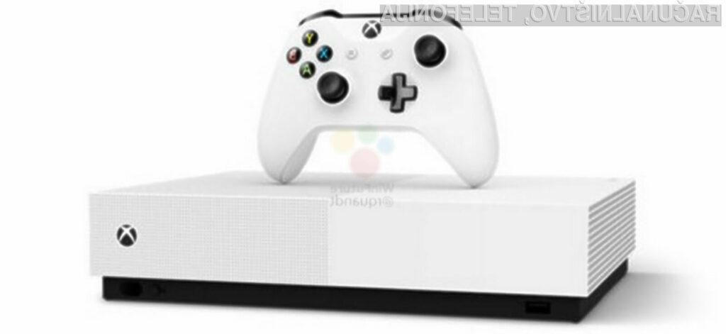 Novi Xbox brez bralnika optičnih diskov bo na voljo že maja in sicer za 230 evrov.