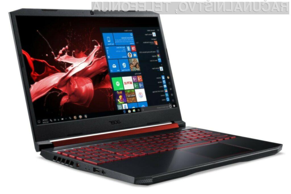 Acer Nitro 5 temelji v celoti na osnovi tehnologije podjetja AMD.