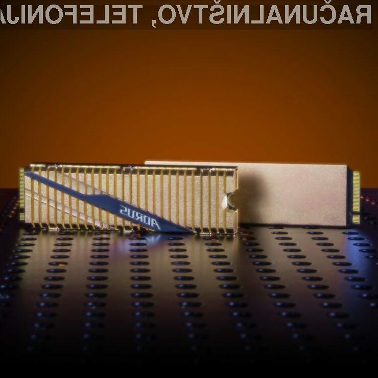 Pogon Solid State Gigabyte Aorus NVMe Gen 4 je kos tudi najzahtevnejšim nalogam.