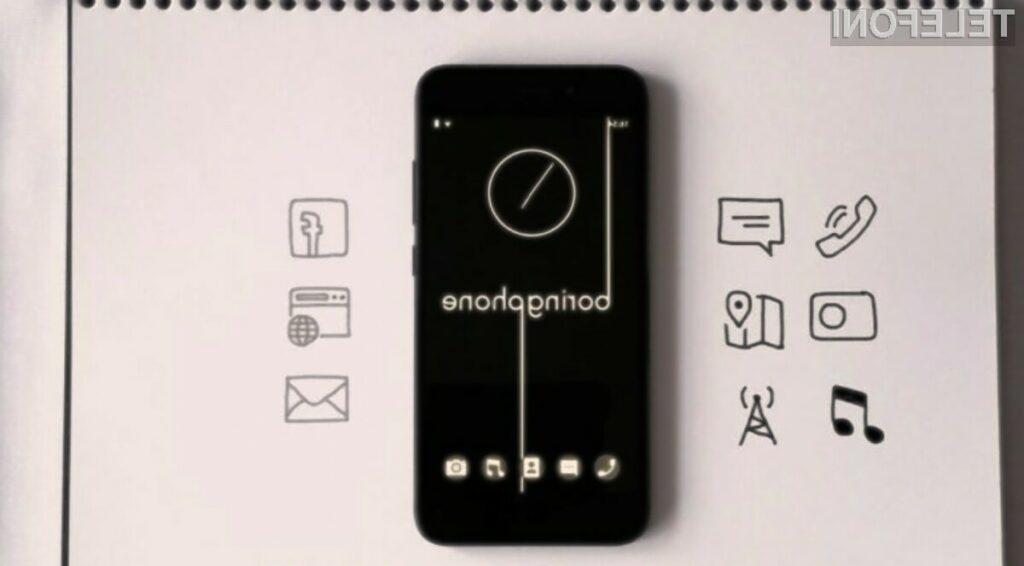 Pametni mobilni telefon BoringPhone ponuja zgolj osnovne funkcije telefona.