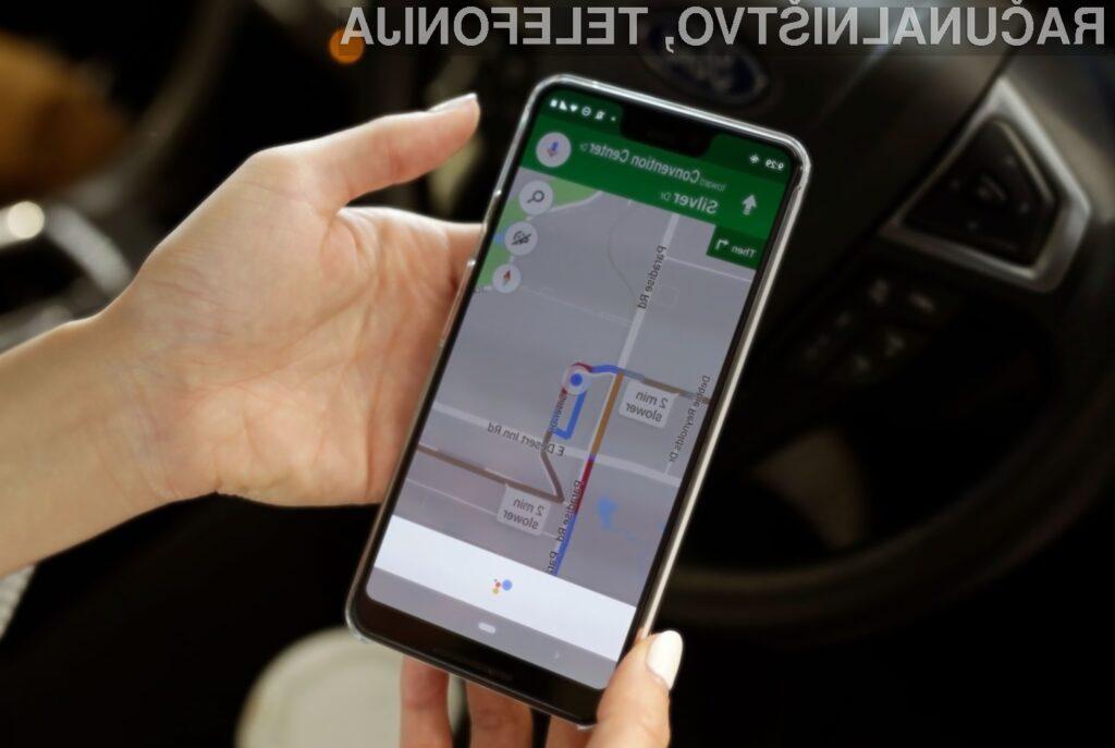 Google Maps nam bo kmalu med vožnjo prikazoval tudi potovalno hitrost.