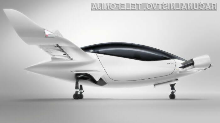 5-sedežni prototip zračnega taksija, katerega poganjajo litij-ionske baterije