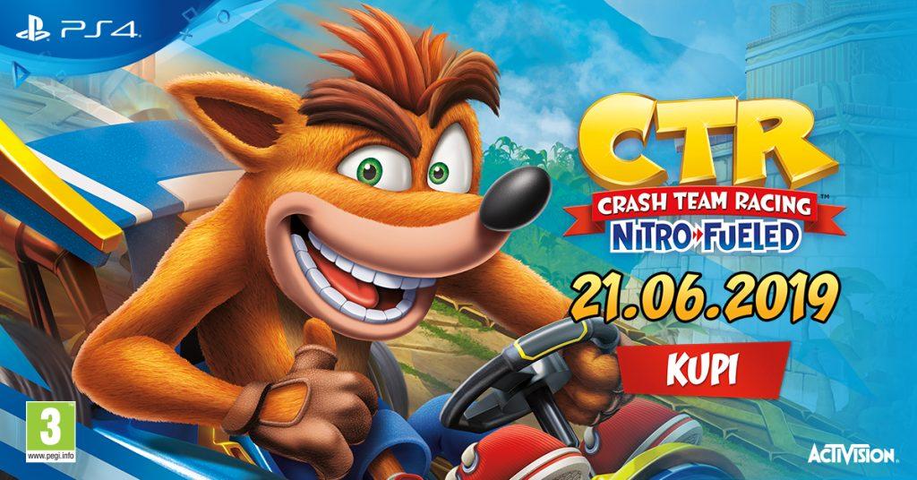 Crash Team Racing že v prodaji