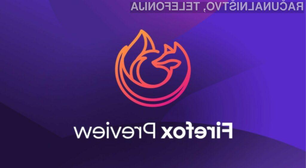 Novi mobilni Mozilla Firfox lahko poganjamo na napravah s sistemom Android 5.0 ali novejšim.