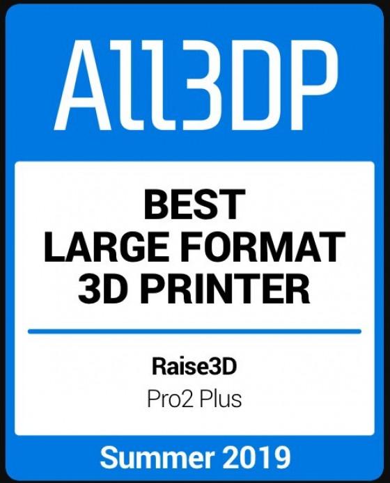 Raise3D Pro2 Plus ponovno izbran za najboljši 3D-tiskalnik z veliko površino za tisk