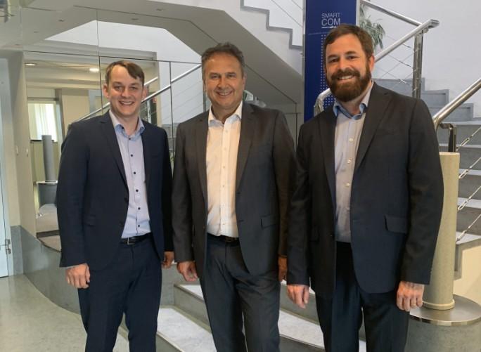 Od leve Filip Remškar, nekdanji direktor Smart Coma, Rajko Novak, direktor Smart Coma in Jure Remškar, izvršni direktor Smart Coma