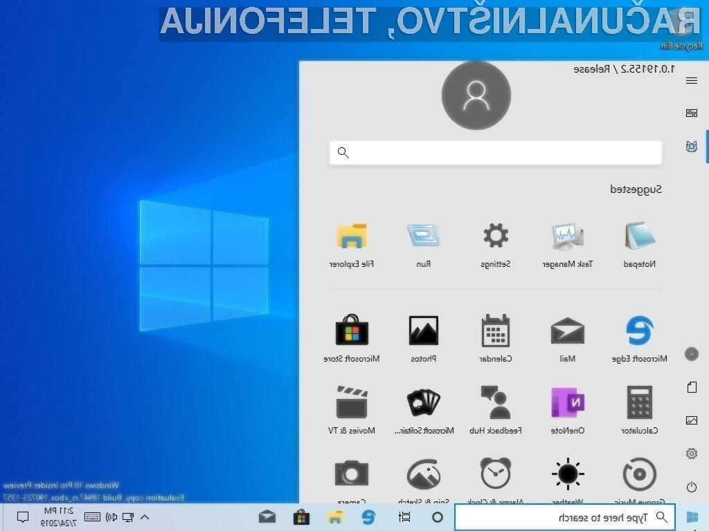 Novi začetni meni za Windows 10 Lite naj bi bil nekaj posebnega.