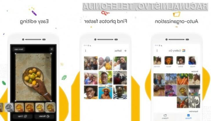 Program Google Gallery Go ponuja vse, kar potrebujemo za urejanje fotografij.