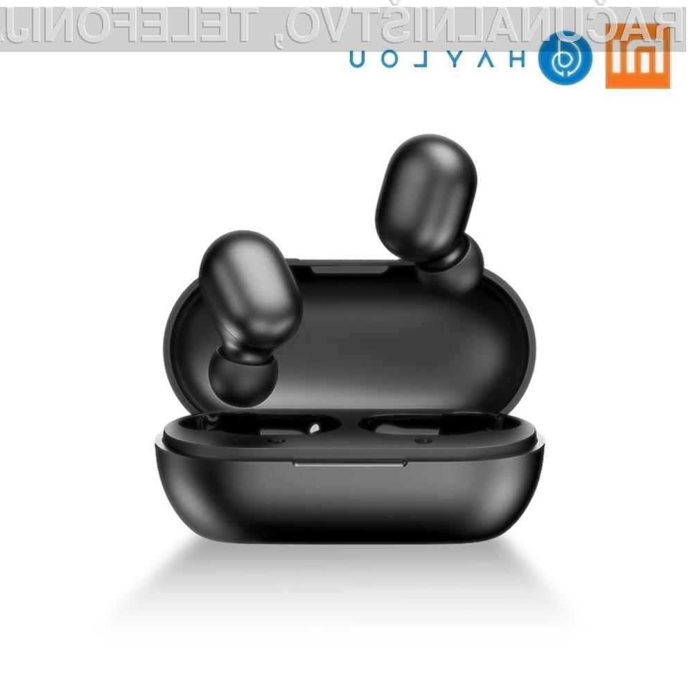 Ušesno slušalko Xiaomi Haylou GT1 Mini TWS praktično ne bomo čutili v ušesu.