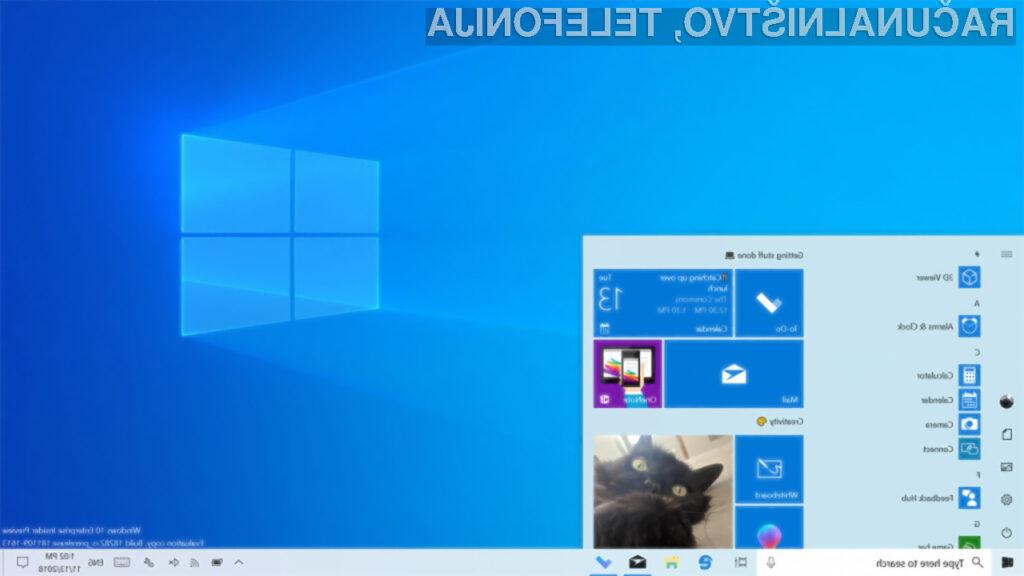 Širši krog uporabnikov bo posodobitev 20H1 za Windows 10 lahko preizkusilo že konec letošnjega leta.