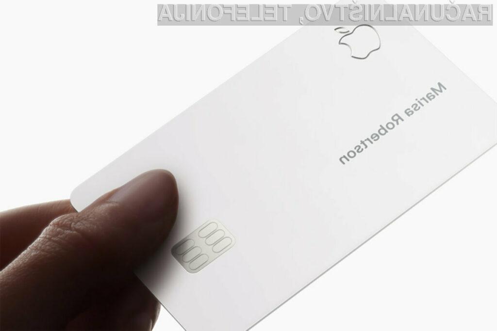 Kreditna kartica Apple Card je nadvse občutljiva predvsem na prakse.