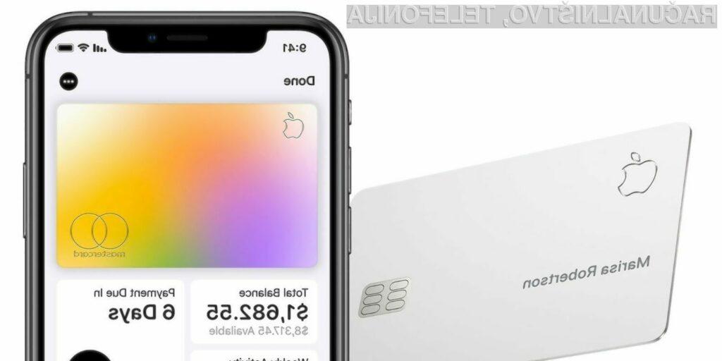 S kreditno kartico Apple Card ne bo mogoče plačati vseh nakupov na spletu.