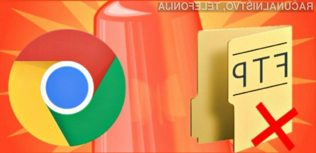 Google Chrome 82 ukinja podporo za FTP ker zanimanja zanj ni več veliko.