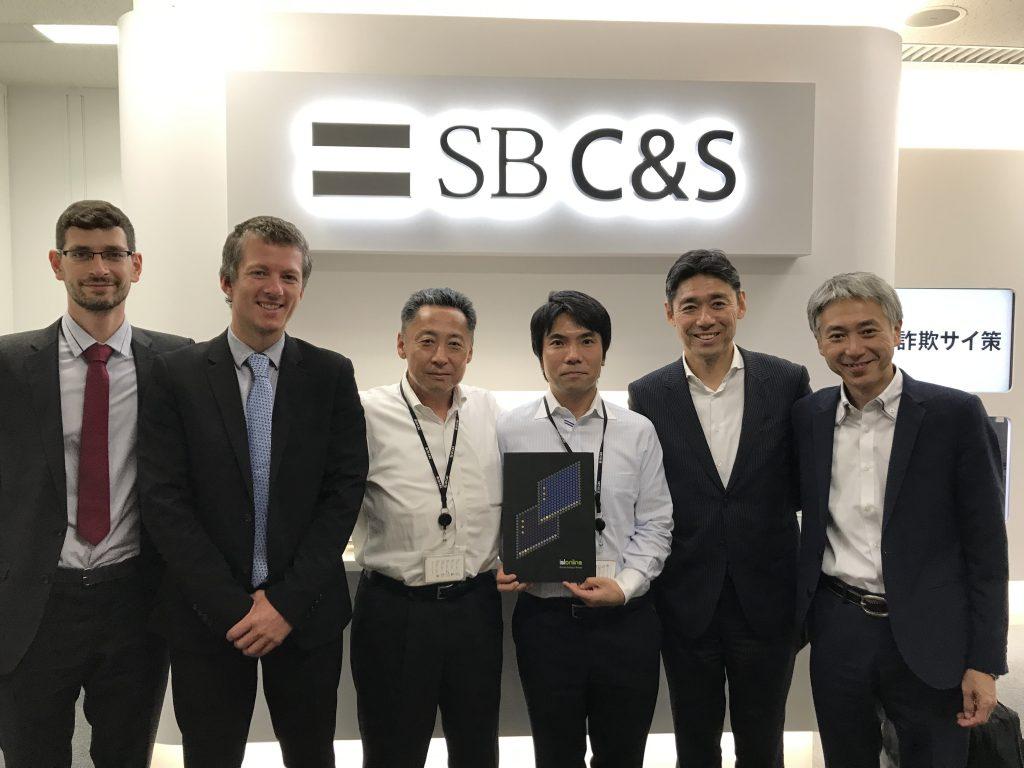 Direktorji podjetij XLAB in OceanBridge so obiskali sedež podjetja SB C&S v Tokiu.