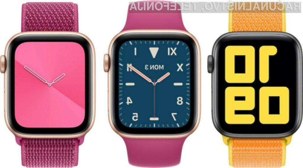 Pametne ročne ure Apple Watch Series 5 bodo na voljo že jeseni.