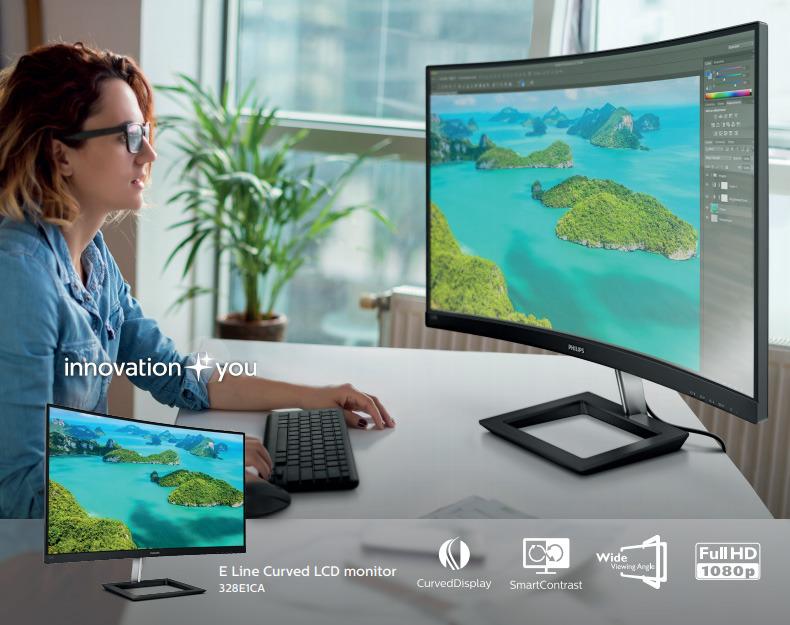 Philips z novo serijo monitorjev E1