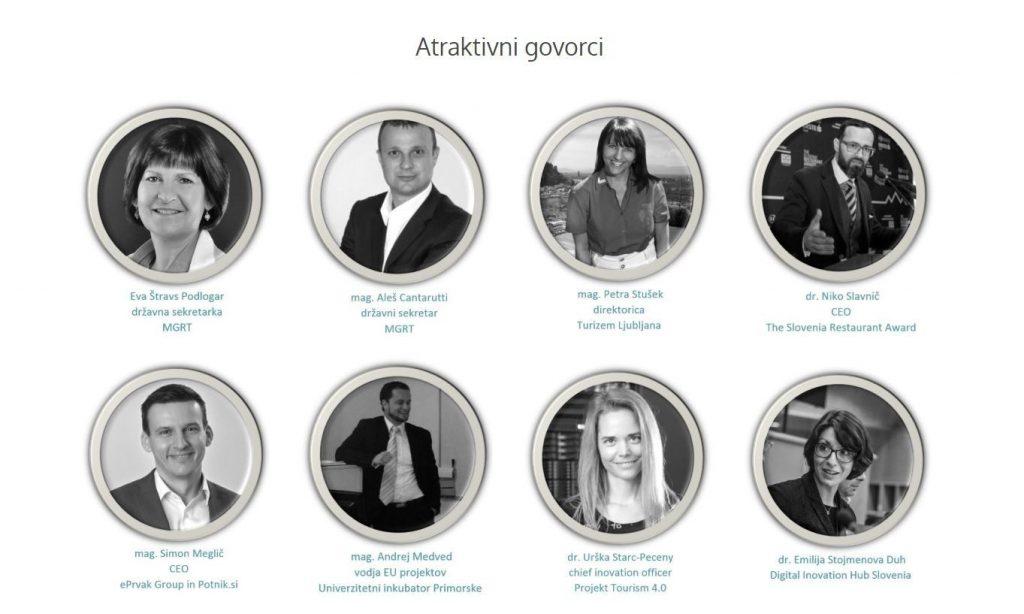 Govorci na konferenci Skrivnosti digitalizacije turizma in Družbe 5.0