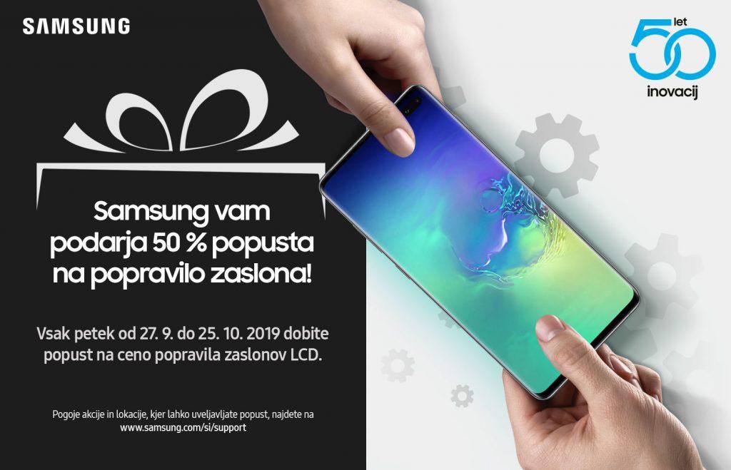 Zaslone izbranih modelov pametnih telefonov, ki so še v garanciji, vam lahko popravijo s 50-odstotnim popustom.