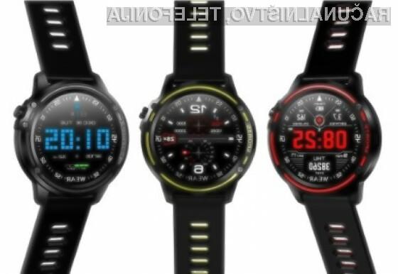 Microwear L8 vodoodporna pametna ura z 1,2-palčnim oziroma 3,05-centimetrskim zaslonom.