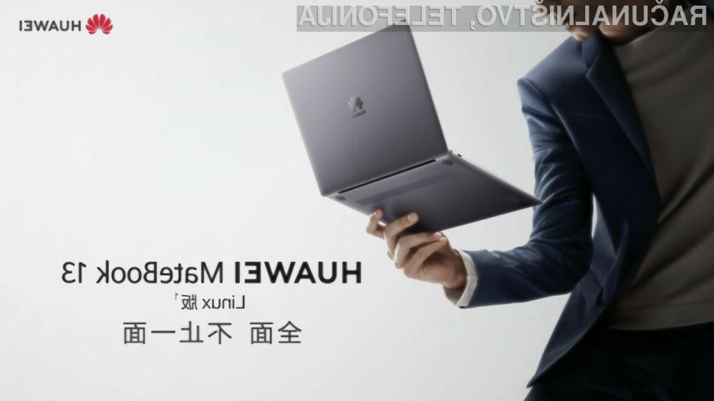 Prenosni računalniki Huawei z operacijskim sistemom Linux bi lahko prej ali slej zašli tudi na evropski trg.