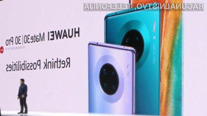 Izšel Huawei Mate 30 brez Googlovih aplikacij