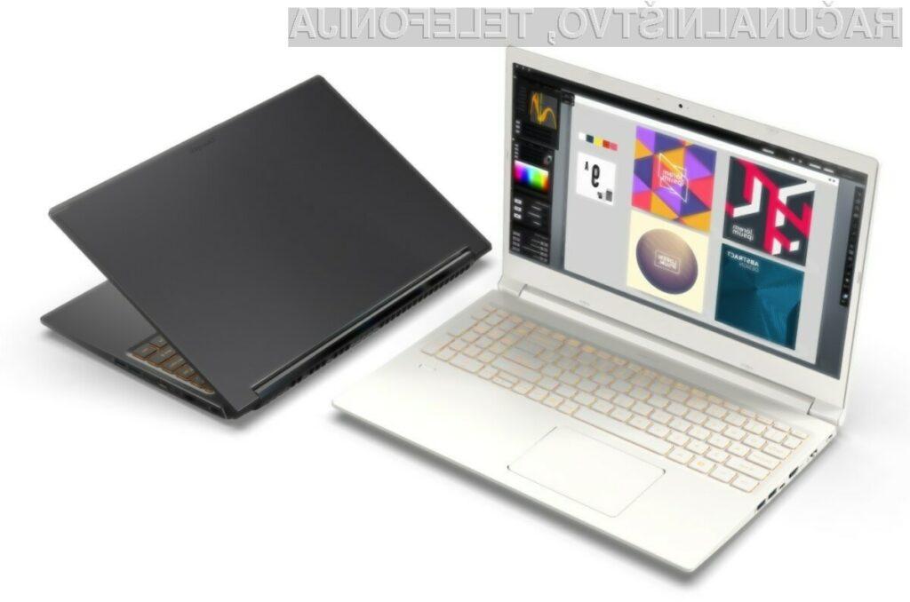 Prenosni računalnik Acer ConceptD 3 je pri delovanju zelo tih, saj ne proizvaja hrupa višjega od 40 decibelov.
