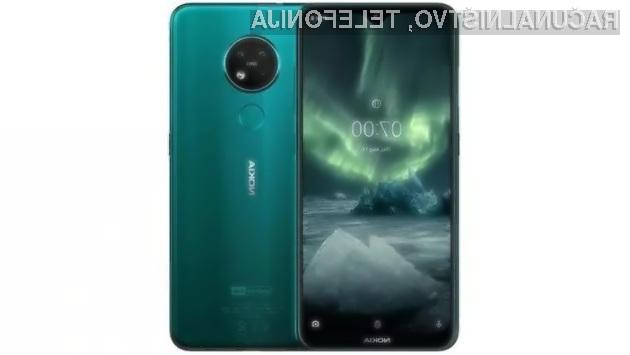 Pametni mobilni telefon Nokia 7.2 je namenjen ljubiteljem digitalne fotografije.