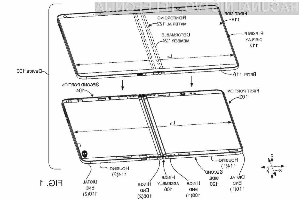Microsoftov izum naj bi omogočil pričetek množične izdelave prepogljivih mobilnih naprav!
