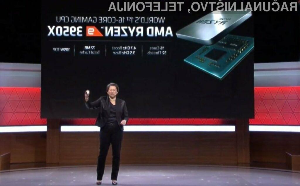 Procesor AMD Ryzen 9 3950X bo naprodaj šele novembra.