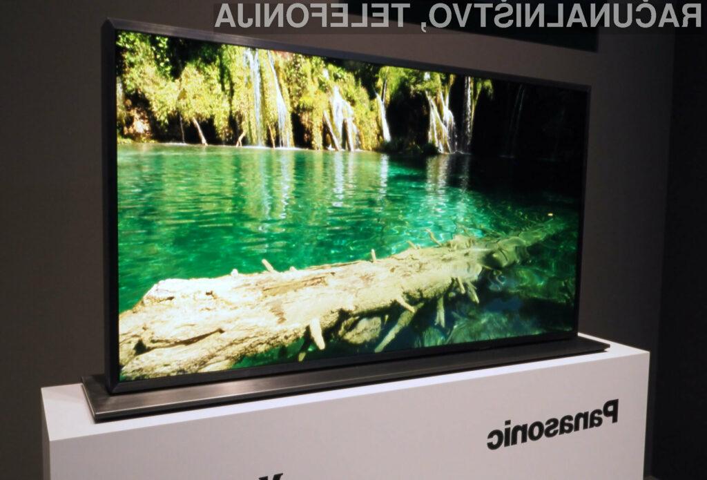 Kontrastno razmerje novega televizorja Panasonic znaša kar en milijon proti ena.