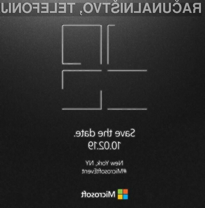 Microsoft za oktobrsko konferenco napoveduje veliko novosti na področju osebnih računalnikov.