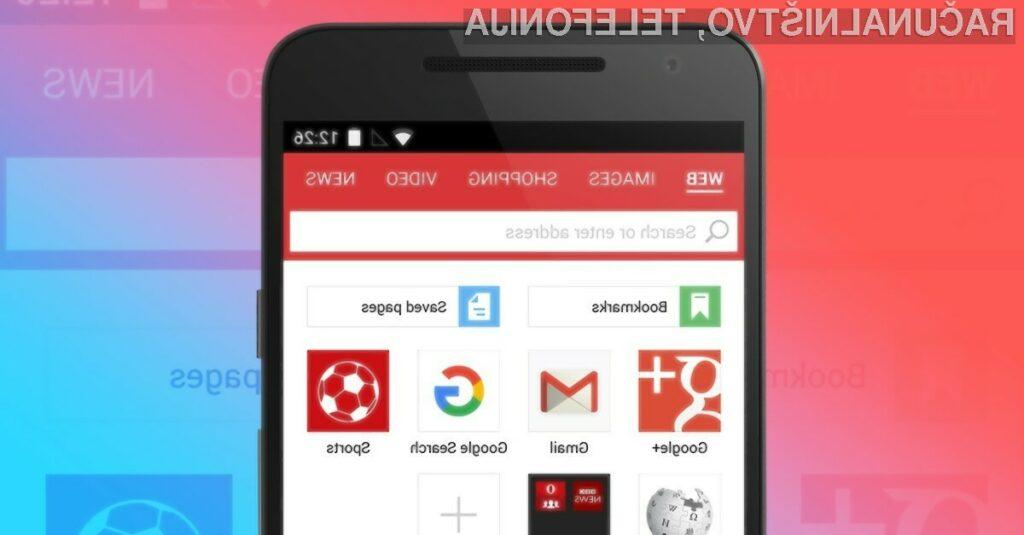Nova različica spletnega brskalnika Opera Mini za Android ponuja možnost skupne rabe datotek brez povezave.