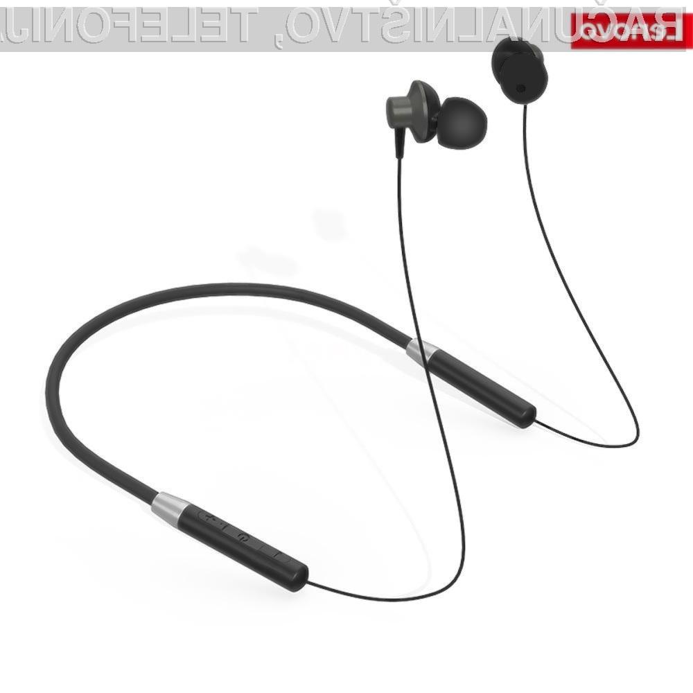 Slušalke Lenovo HE05 nosimo okoli vratu in so za nameček še vodotesne.