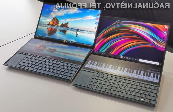 Inovativni prenosnik Asus ZenBook Pro Duo bo na voljo v prodaji od oktobra.