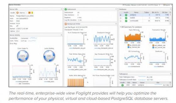 Odkrivanje in popravljanje napak na PostgreSQL bazah z rešitvijo Foglight