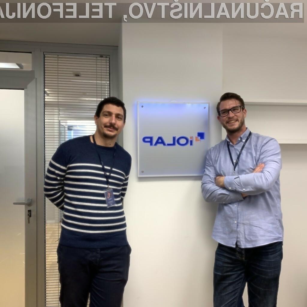 Mario Galjanić (levo) in Filip Krstanović, iOLAP