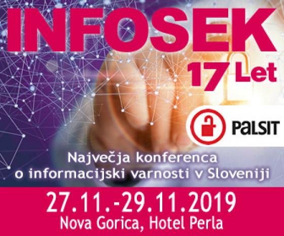 Obiščite 17. konferenco o informacijski varnosti – INFOSEK 2019.