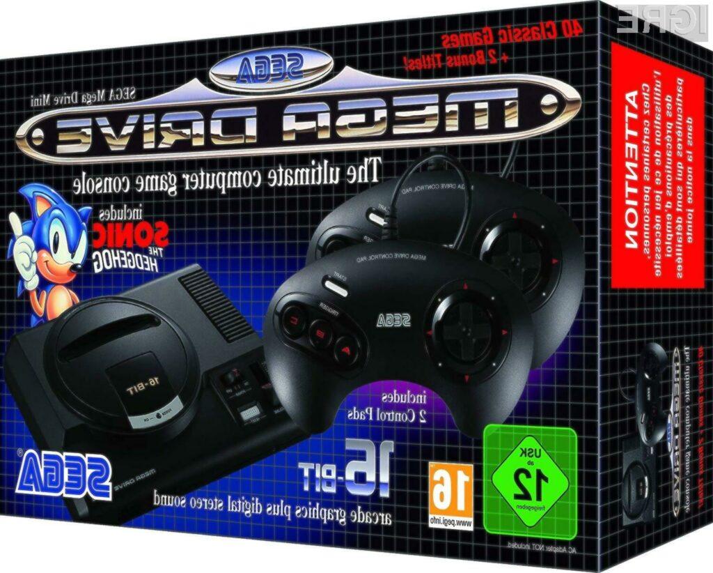 Za retro konzolo SEGA Mega Drive Mini je treba odšteti kar 80 evrov.