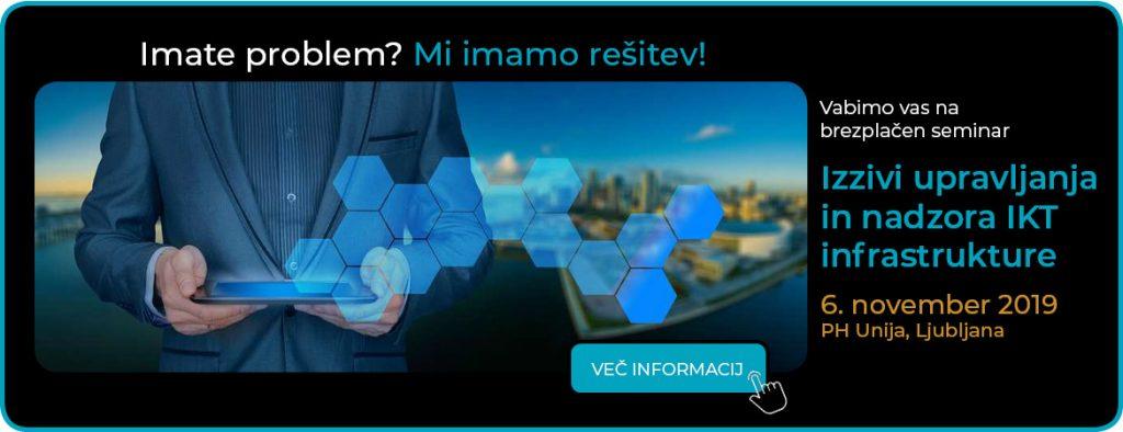 """Vabilo na dogodek """"Izzivi upravljanja in nadzora IKT infrastrukture"""