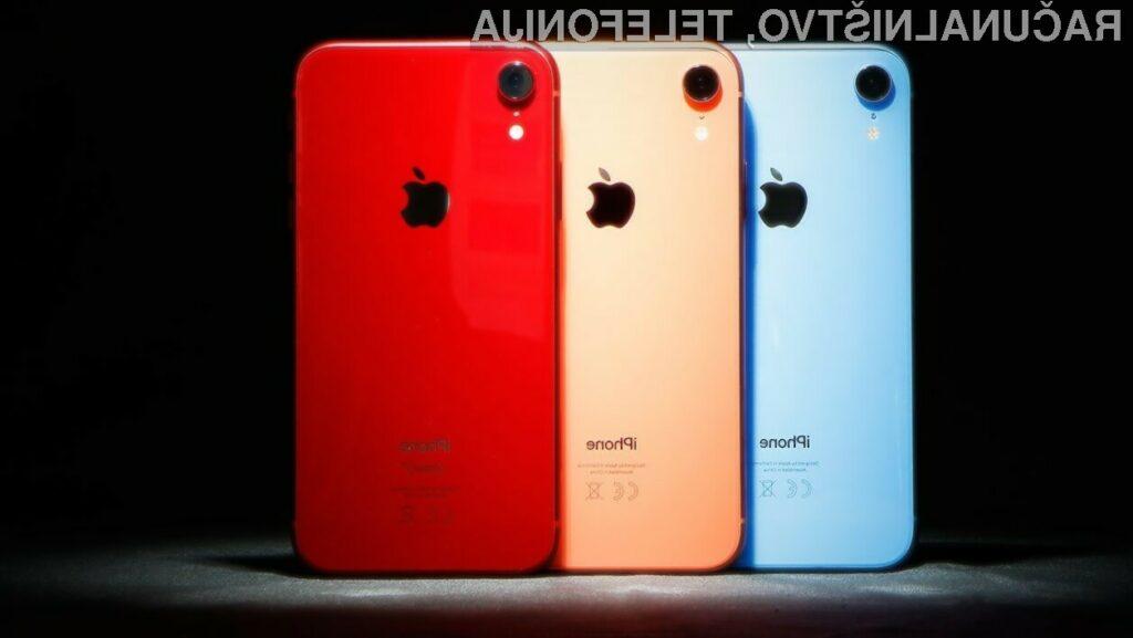 Pametni mobilni telefoni Apple iPhone XR naj bi kmalu zašli tudi na evropski trg.