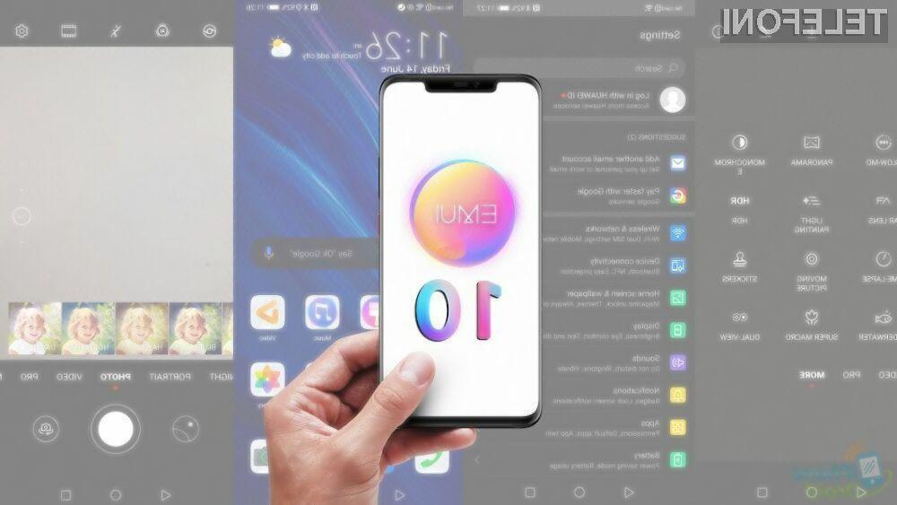 Novi mobilni operacijski sistem EMUI 10 bo skupno prejelo več kot 20 mobilnih naprav Huawei.